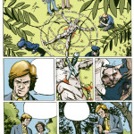 New York police investigate a sinister murder in this page from the comic Mongo Le Magnifique