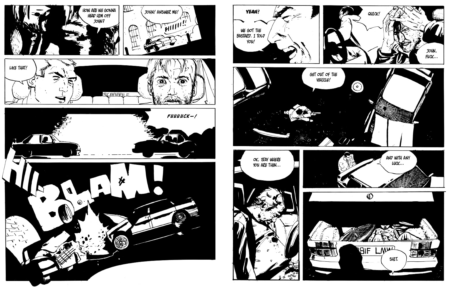 London Inferno (Final)_ENGLISH_roger mason_pages 12 - 13_noir comics_police comics_crime_frank miller