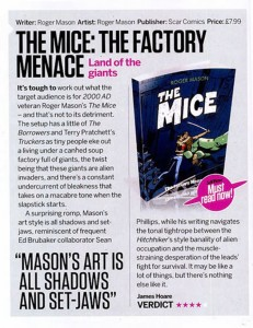 The Mice: The Factory Menace reviewed in Sci Fi Now magazine