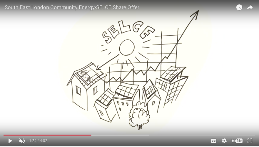 Scribing, community energy scheme, animated drawing, Roger Mason, SELCE
