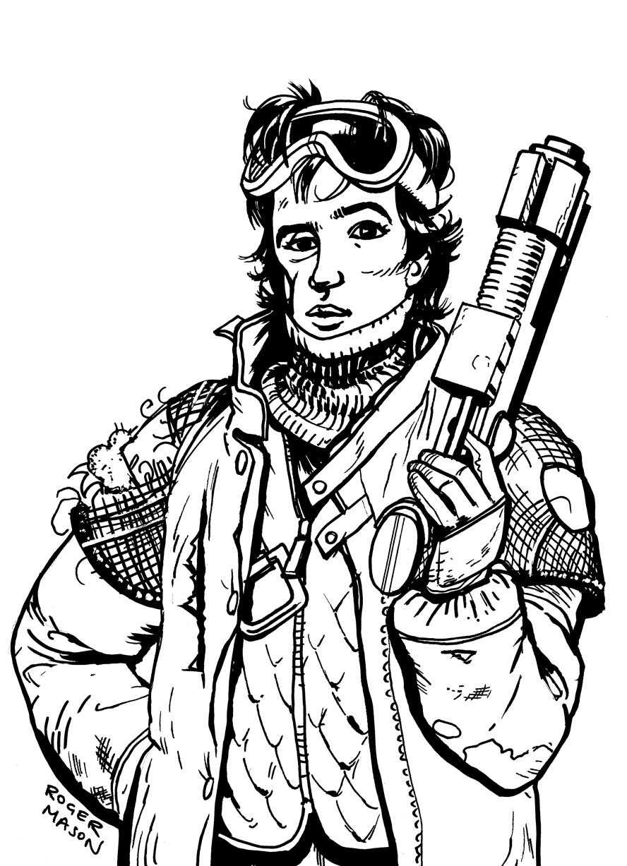 Charlie Worthing from Jasper Fforde's novel Early Riser, illustration by Roger Mason
