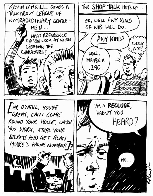 Roger Mason diary comic featuring Kevin O'Neill